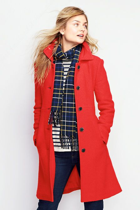 Women's Boiled Wool Walker Coat from Lands' End I don't usually .