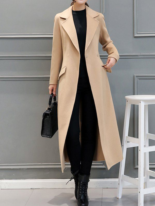 $35.16 Wool Blend Belted Longline Walker Coat in 2020 | Coats for .