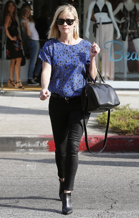 How to Wear Reese Witherspoon's Silky Leopard-Print Blouse and .