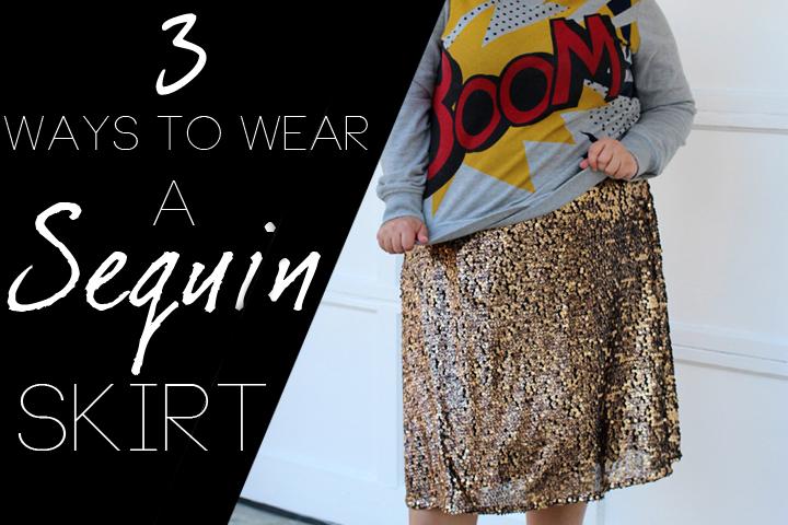 3 Ways to Wear a Gold Sequin Ski