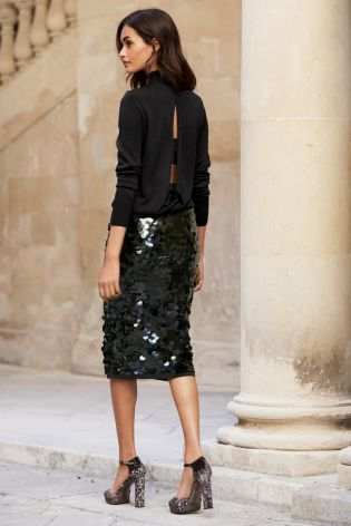 Sparkle and shine this Christmas with this gorgeous sequin black .
