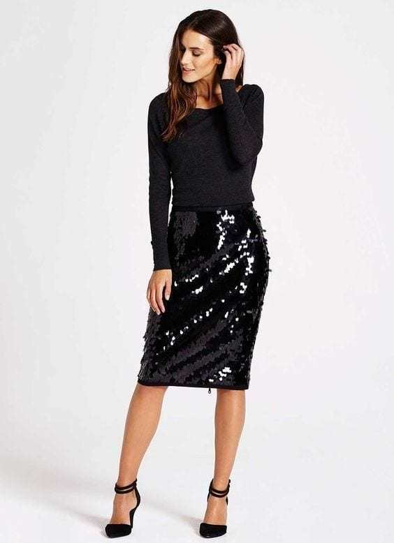 24 Easy Sytish Ways to Recreate Sequin Skirt Outfi
