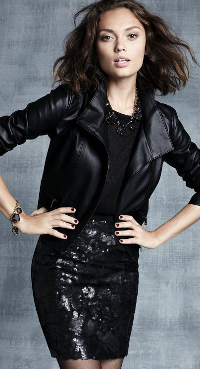 Style Guide: How to wear leather jacket for spring looks .