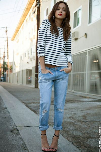 How To Style Girlfriend Jeans | Fashion, Street style, Cloth