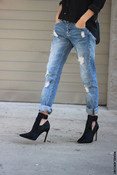 How To Style Girlfriend Jeans | Fashion, Boyfriend jeans, Cloth