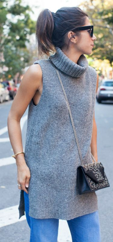 15 Super Simple Outfits To Show You How To Wear The Sleeveless .