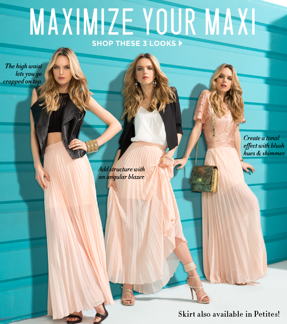 Bebe: 3 ways to wear a maxi skirt | Mill