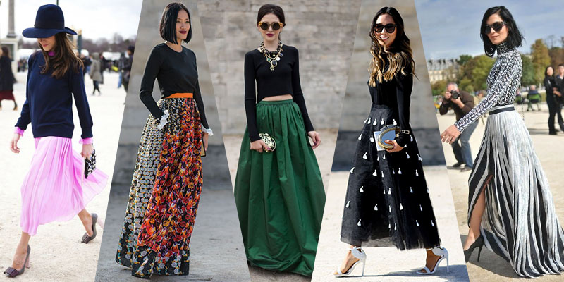 High Waisted Maxi Skirt in Skirts for Women Dress