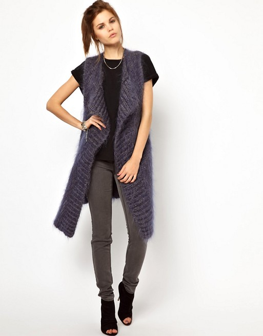 2nd Day Mohair Long Sleeveless Cardigan | AS