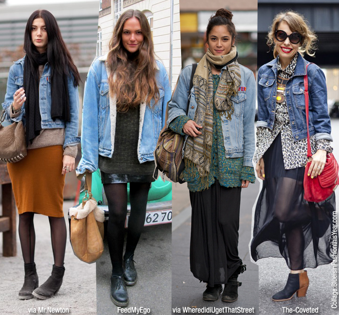 How To Wear: Denim Jacket + Skirt - Blue is in Fashion this Ye