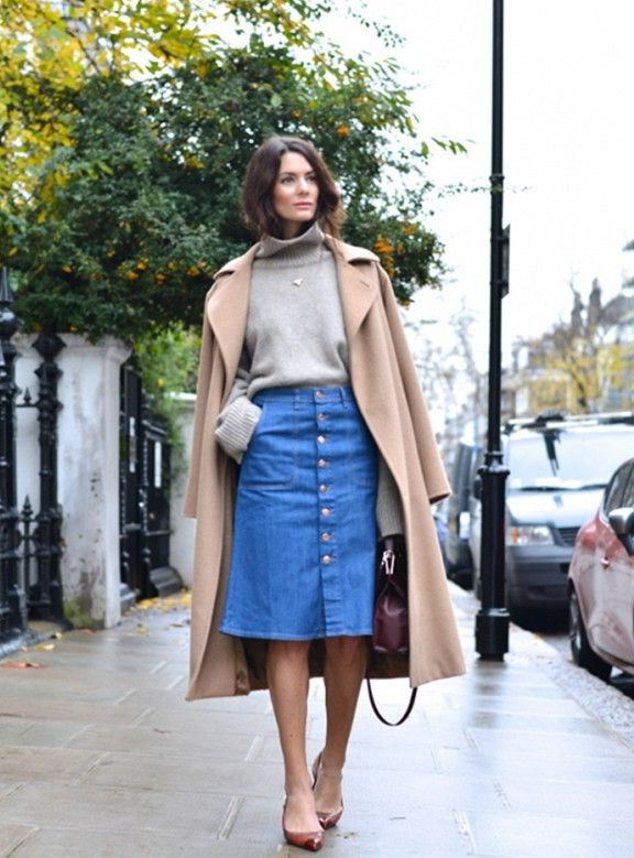 25 Ways To Wear Denim Skirts 2020 | FashionTasty.c