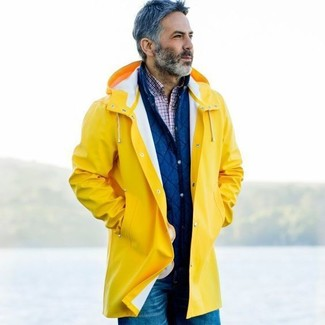 How to Wear a Yellow Raincoat For Men (13 looks & outfits) | Men's .