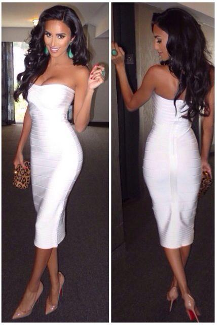 ✦⊱ɛʂɬཞɛƖƖą⊰✦ | White bandage dress, Fashion, Beautiful dress