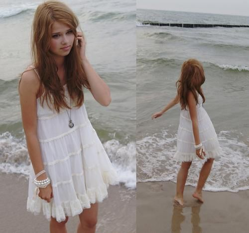 White Beach Dresses Design Ideas for Casual Party in 2020 | Beach .