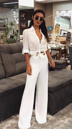10 Best White Flare pants images | White flare pants, Fashion .