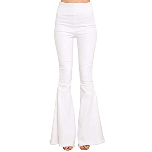 White Flare Pants: Amazon.c