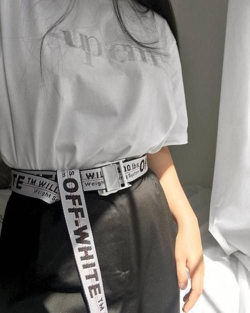 brxkensavvi) - #girl #tumblr #cute | Off white belt, Fashion .