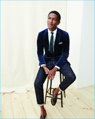 J.Crew Gets Festive for December Style Guide | Velvet jacket men .