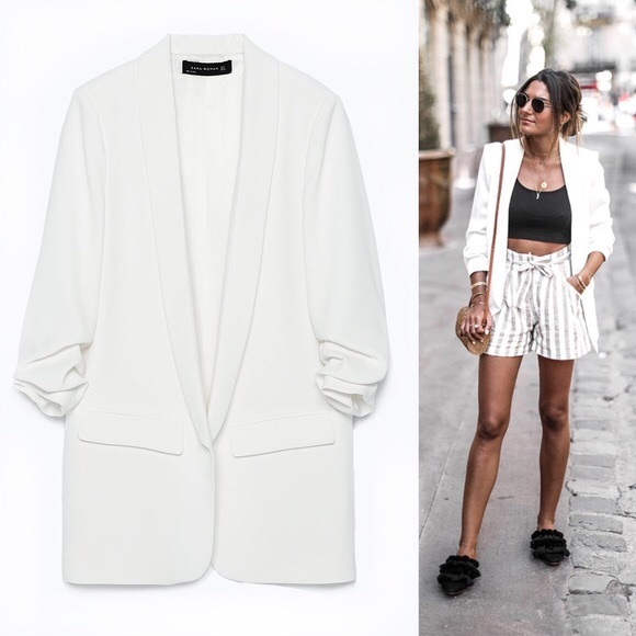 Zara Jackets & Coats | White Blazer New Small | Poshma