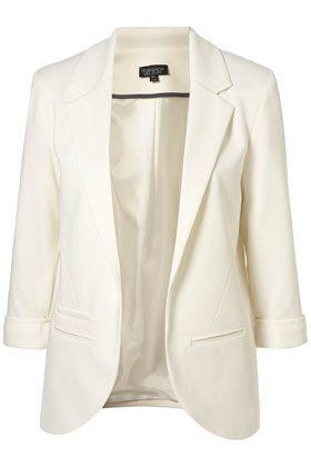 off white blazer - must have----got it! | Rolled sleeves blazer .