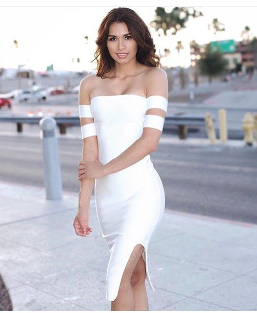 How to Wear White Bodycon Dress: Top 15 Outfit Ideas - FMag.c