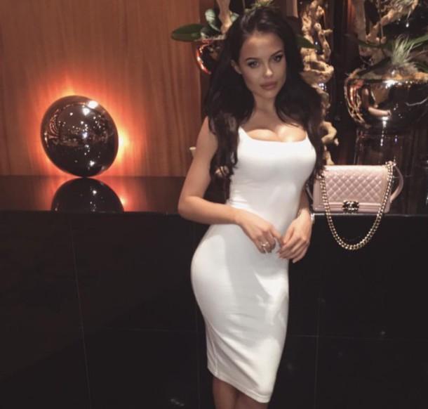 dress, mara teigen, white dress, white, bodycon, bodycon dress .