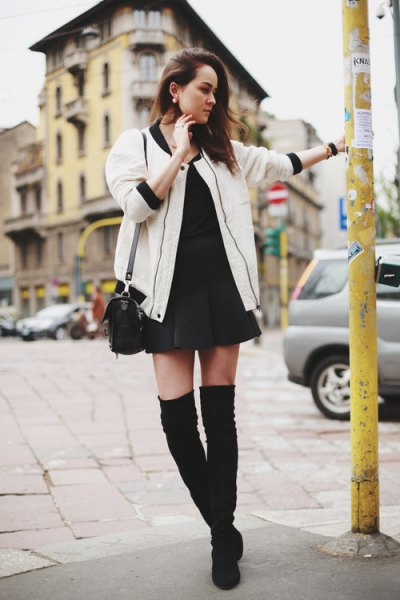 How to Style White Bomber Jacket: Top 13 Outfit Ideas for Ladies .