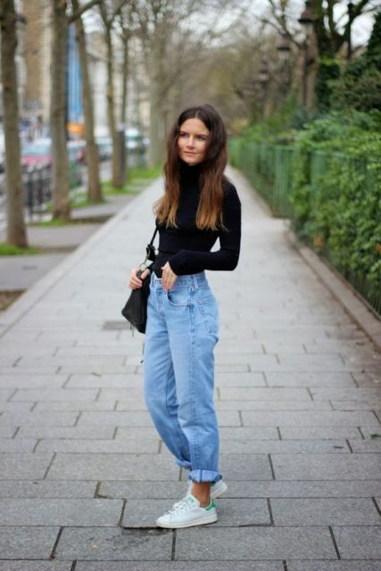 20 Fall And Winter Outfits With Boyfriend Jeans - Styleohol