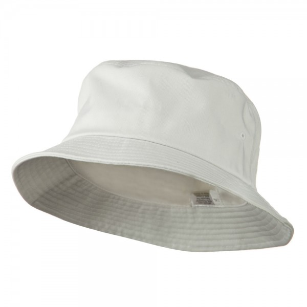 Bucket - White Big Size Cotton Blend Bucket Hat | Coupon Free .