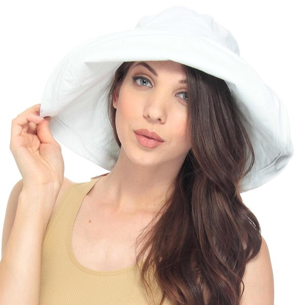Women UPF50+ Summer Beach Hat Wide Brim Foldable Sun Bucket Hat .