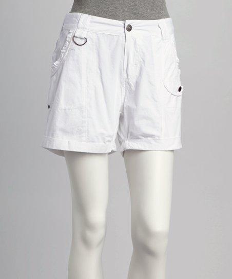 Coupé White Cargo Shorts - Women | Zuli