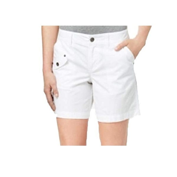 Shop Style & Co Women's Cargo Shorts Bright White Size 18 - On .