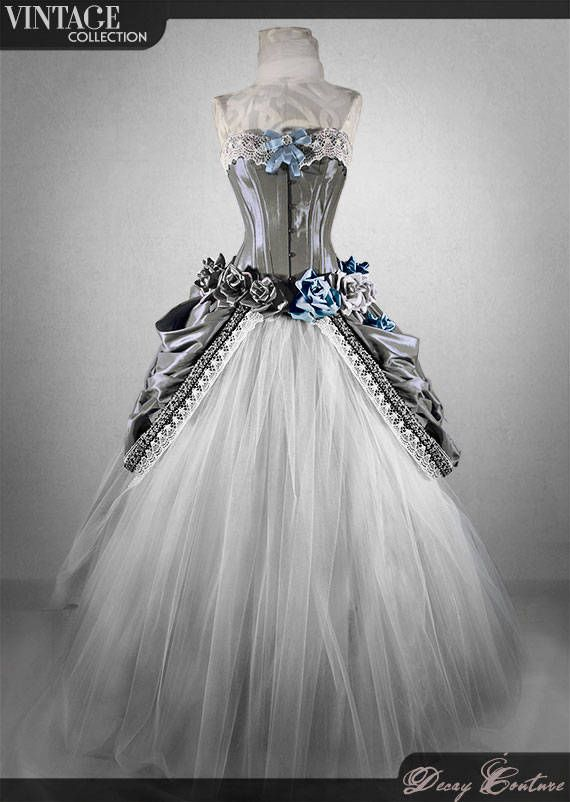 VICTORIAN GARDEN Vintage wedding, vintage wedding gown, corset .