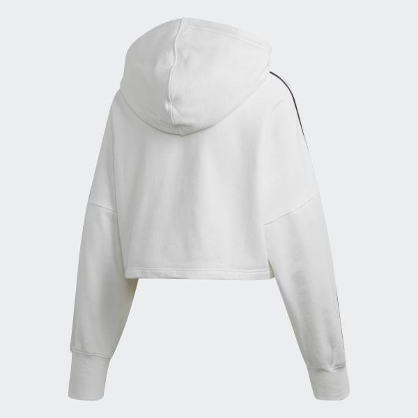 adidas Cropped Hoodie - White | adidas