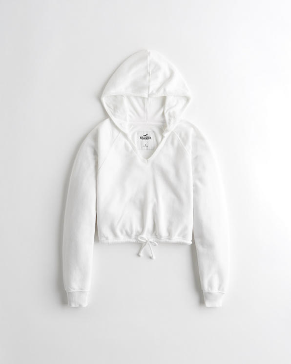 Girls French Terry Crop Hoodie | Girls Clearance | HollisterCo.c