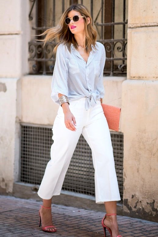 A Date-Approved Way To Wear White Culottes (Le Fashion) | Denim .