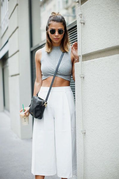40 Amazing White Wide Leg Pants Outfits to Wear This Summer .