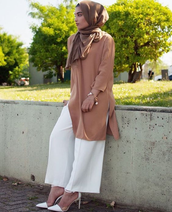 Best Culotte Pant Hijab Outfit Ideas for Muslim Girls (With images .