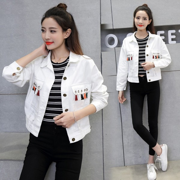 Buy New Brand Women Casual Spring Denim Jacket 2017 Long Sleeve .
