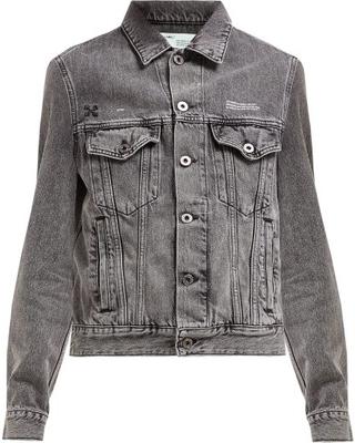 Amazing Deals on Off-white - Embossed Denim Jacket - Womens - Gr