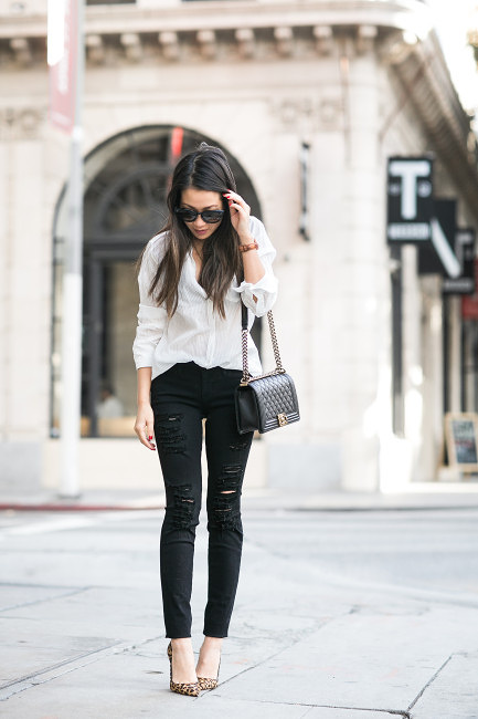 Ripped Jeans Outfits: The Ripped And Distressed Jeans Are Back .