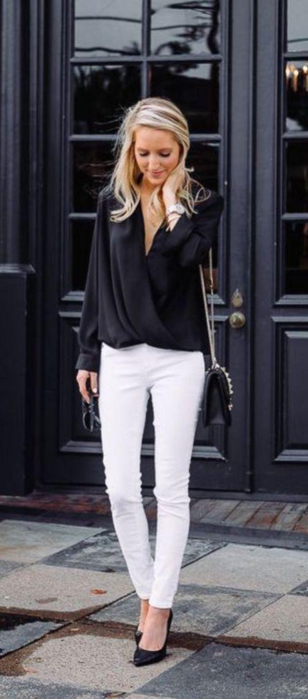 Pin by patricia gutiérrez arconada on moda | White pants outfit .