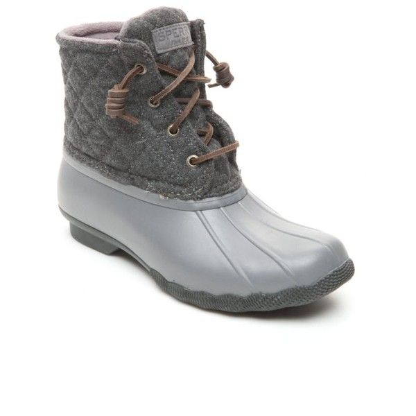 Sperry Gray Saltwater Quilt Wool Duck Boot - Women's ($120 .