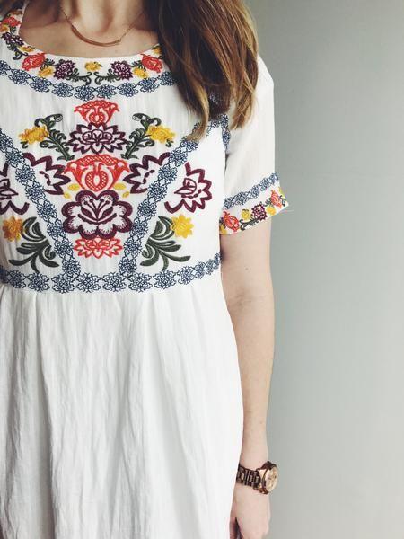 White Embroidery Dress | Fashion outfits, Fashion, Cloth