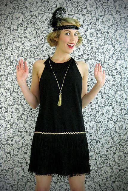 diy gatsby dress | DIY Flapper Dress Costume and Gatsby headband .
