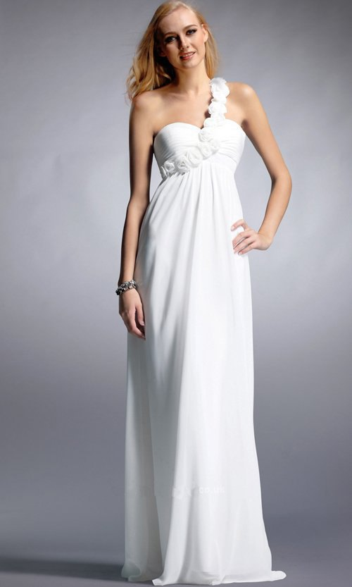 15 Best White Floor Length Dress Outfit Ideas - FMag.c