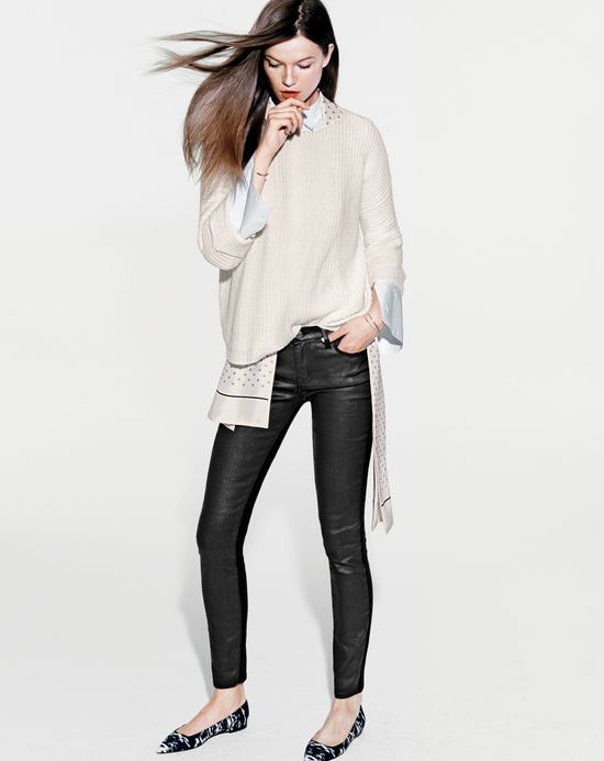 NOV '14 Style Guide: J.Crew women's toothpick jeans, rolled sleeve .