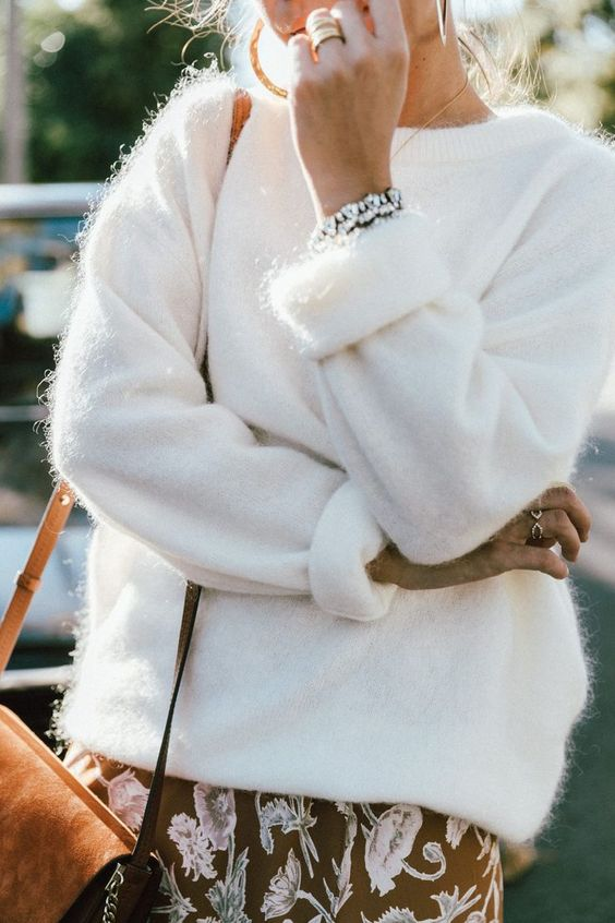 White Fluffy Sweater: A Chic Style Guide - FMag.c