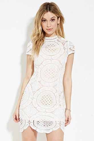 Crochet High-Neck Dress | Forever 21 #thelatest | Dressy outfits .