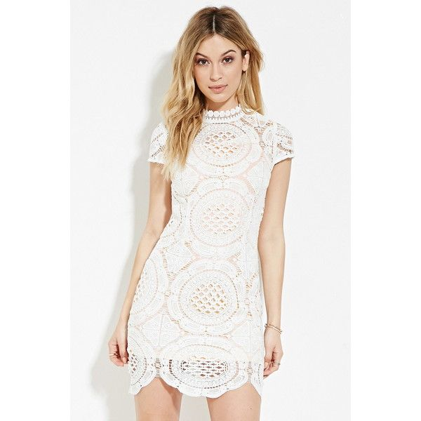 Forever 21 Women's Crochet High-Neck Dress ($33) ❤ liked on .